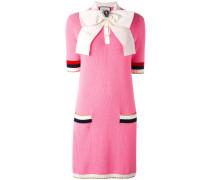 Gestricktes Kleid mit Schleife - women
