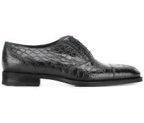 Oxford-Schuhe in Krokodillederoptik