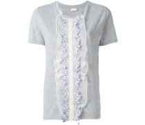 T-Shirt mit Rüschenbesatz