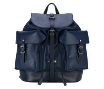 multi-pocket backpack - men - Leder