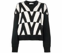 V-logo knitted jumper