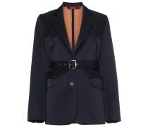 Wool Blend Belted Blazer