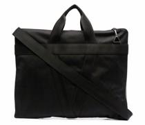 zip-around jacquard briefcase