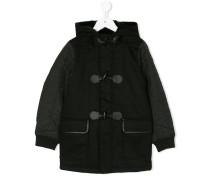 Mantel mit Kunstpelzbesatz