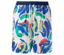 abstract-print drawstring-waist running shorts