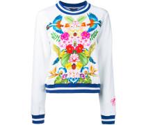 - Sweatshirt mit tropischem Print - women