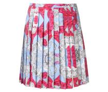 Signature print pleated skirt