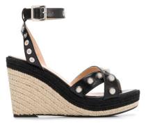 Verzierte Wedge-Sandalen