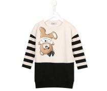 Sweatshirtkleid mit Teddybär-Print