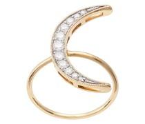 18kt 'Luna' Gelbgoldring mit Diamanten