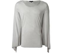T-Shirt mit drapiertem Überschlag
