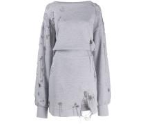 Sweatshirtkleid in Distressed-Optik