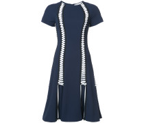 lace up flared dress