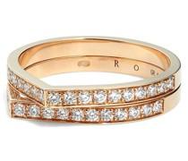 18kt Antifer Rotgoldring mit Diamanten