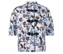 Cropped-Jacke mit floralem Muster - women