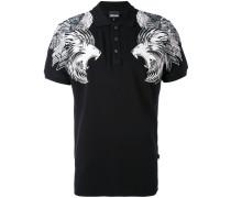 Poloshirt mit Löwen-Print