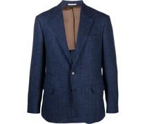 wool-blend single-breasted blazer