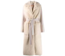 Mantel mit Lammfelleinsatz
