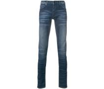 stonewashed slim-fit jeans