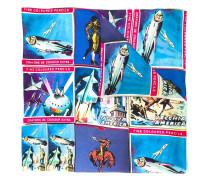 Seidenschal mit Reise-Print - men - Seide