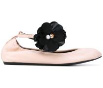 Ballerinas mit Blumen-Applikation