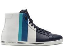 High-Top-Sneakers mit Streifen