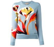 - Intarsien-Pullover mit Blumenmuster - women