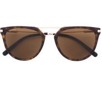 Cat-Eye-Sonnenbrille mit Schildüpatt-Optik