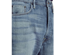 Relaxed Fit Washed Japanese Selvedge Denim Jeans