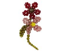 flower beaded single earring