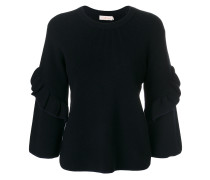 ruffled sleeves jumper