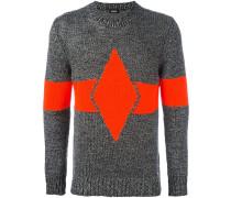Gestreifter Intarsien-Pullover
