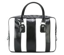Große Handtasche mit Streifen