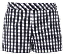 checked fitted shorts