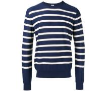 stripe buttoned side jumper