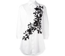 Oversized-Hemd mit Blumenstickerei - women
