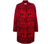 Oversized-Jacke mit abstraktem Muster
