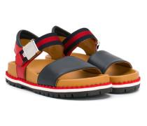 Sandalen mit Webstreifen - kids - Leder/rubber