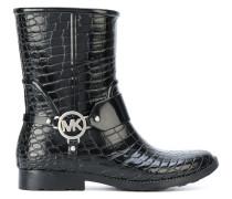 Stiefel mit eingeprägter Krokodil-Optik - Unavailable