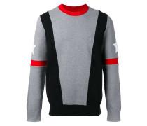 Sweatshirt mit Kontrastreifen und Sternen