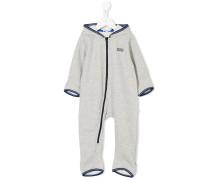 Pyjama mit nicht mittigem Reißverschluss