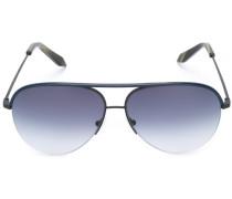 Klassische Pilotenbrille - women - Leder/Metall