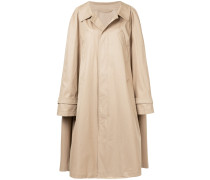 oversized trench coat with sleeve detail