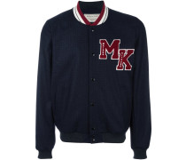 Collegejacke mit Logo-Patch - men