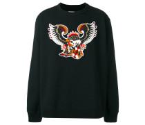 Sweatshirt mit Adler-Patch