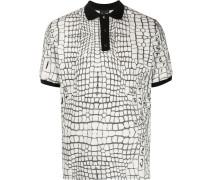 Poloshirt mit Gitter-Print