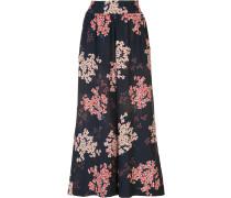 - Cropped-Seidenhose mit floralem Print - women