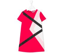 Gestreiftes Kleid mit kurzen Ärmeln