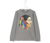 native american print T-shirt