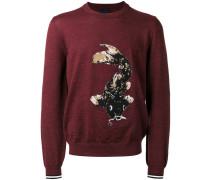 Intarsien-Pullover mit Koimotiv - men - Wolle
